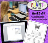 Microsoft Word Video Tutorial Lesson 2 of 8 - Tabs