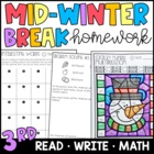Mid-Winter Break Homework Packet for 3rd & 4th Grades!
