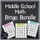 Middle School Math Bingo Bundle