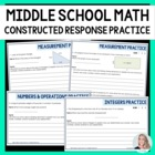 Middle School Math Brief Constructed Response Practice