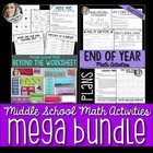 Middle School Math Bundle of Fun Resources