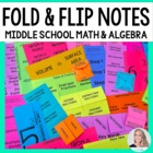 Middle School Math Foldable Notes