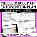 Middle School Math Intervention Plan