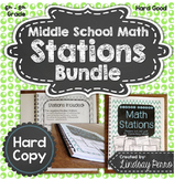 Middle School Math Stations {Hard Copy Edition}