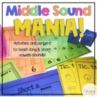 Middle Sound Mania! Activities and Centers to Teach Vowel Sounds