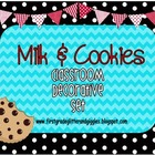 Milk & Cookies Classroom Decorative Set