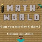 Minecraft Math World. Common Core Stations with Vocabulary Cards