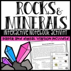 Minerals Worksheet