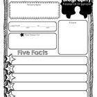 Mini Biography Organizer & Writing Paper