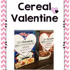 Mini Cereal Box Valentines -FREEBIE-