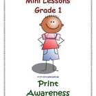Mini Lessons - Print Awareness - Grade 1