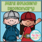"""Mini Student Dictionary for """"How do you spell...?"""" and Dic"""