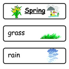 Mini Word Book-Spring Words
