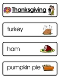 Mini Word Book-Thanksgiving Words