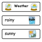 Mini Word Book-Weather Words