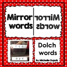 FREE Mirror Words   (Use a mirror to read Dolch words)