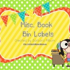 Misc. Book Bin Labels {FREE}