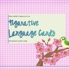 Figurative Language Matching Game, Montessori 3-Part Cards