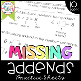 Missing Addends Practice Sheets