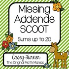 Missing Addends SCOOT, Task Cards, Assessment