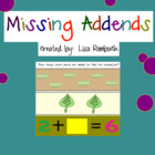 Missing Addends SmartBoard Lesson for Primary Grades