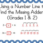 Missing Addends-Using a Number Line to Solve