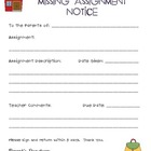 Missing Assignment Letter
