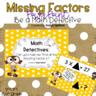 Missing Factors (FREEBIE) Math Detective Power Point