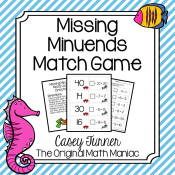 Missing Minuend Match Game