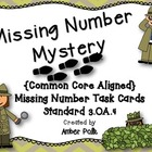 Missing Number Mystery Task Cards {Common Core 3.OA.4}