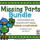 Missing Parts Bundle: Missing addend & subtrahend activiti
