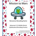Mission to Mars Decoding Syllabication Card Game