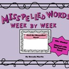 Misspelled Words Week to Week