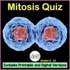 Mitosis (Cell Division) Quiz / Review Sheet / Homework