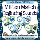 Mitten Match- Beginning Sounds