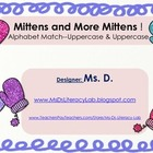 Mittens and More Mittens-Alphabet Clip It Cards---uppercase