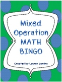 Mixed Operation Math Bingo with 33 Unique BINGO Cards