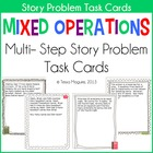 Mixed Operations Story Problems