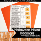 Mixed Operations with Decimals Halloween Solve and Snip