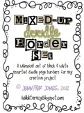 Mixed-Up Doodle Borders - Black/White (Set of 52)