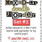Mixed-Up Doodle Borders: Set 2 - Black/White (Set of 45)