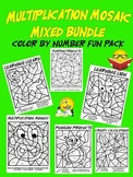 Mixed Up Multiplication Mosaics-Fun Multiplication Color B