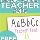 Mobile Skinny Teacher Font