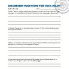 Mockingjay Hunger Games Discussion Questions Teacher's Guide Key