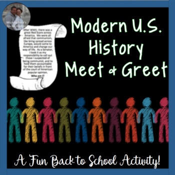 ... History Find Someone Who First Day of School or Review Activity CCSS