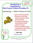 Mole Practice Worksheet #5: Molar Volume of a Gas