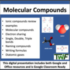 Molecular Compounds - Chemistry PowerPoint Lesson & Studen