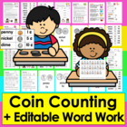 Money Coin Counting Spelling Activity Learning Center- Mat