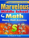 Money Math Activities eBook for Middle School Math