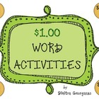 "Money:  ""One Dollar Word Activities"""